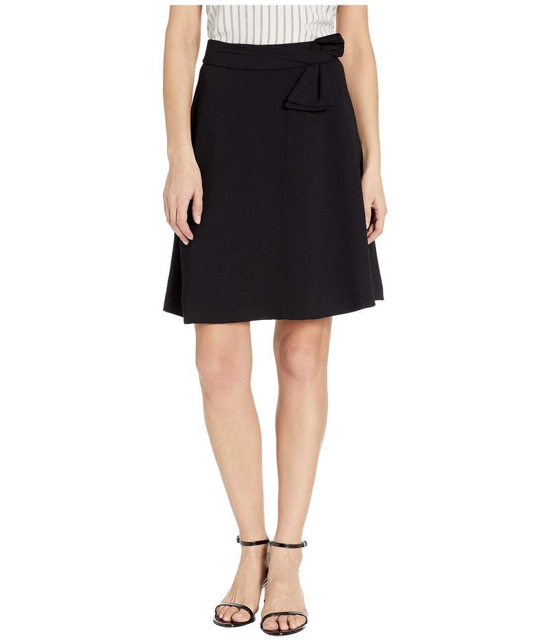 セセ レディース スカート ボトムス Moss Crepe A-Line Skirt w/ Bow Rich Black