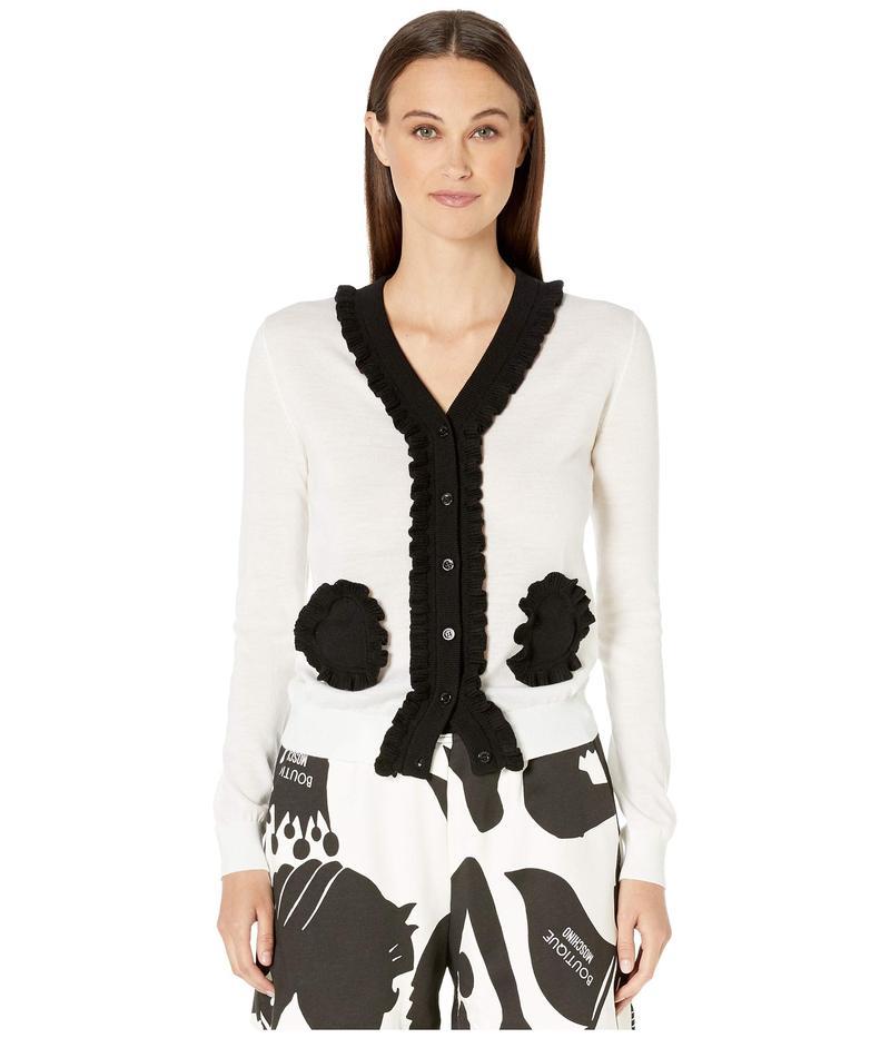 ブティックモスキーノ レディース ニット・セーター アウター J 0906 6100 2002 Sweater Fantasy Print White