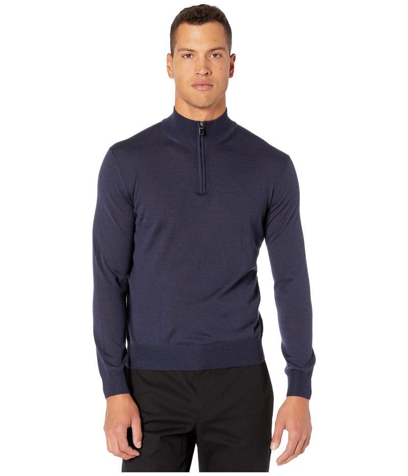 カナーリ メンズ ニット・セーター アウター 3/4 Zip Merino Wool Sweater Blue