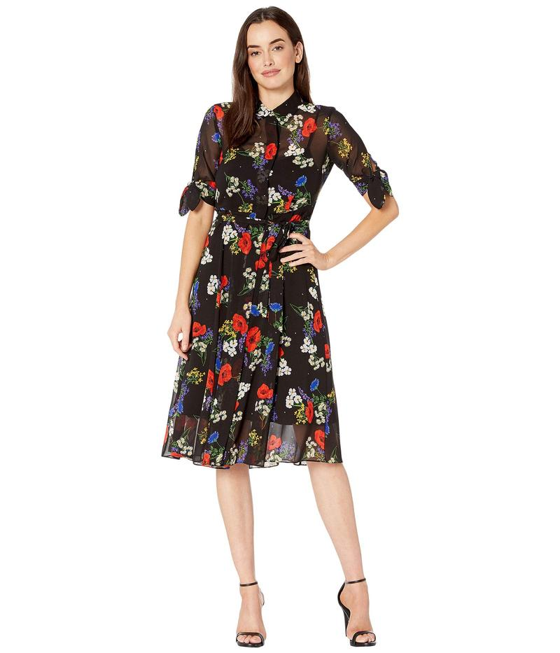 カルバンクライン レディース ワンピース トップス Floral Print Shirtdress with Belt Red Multi