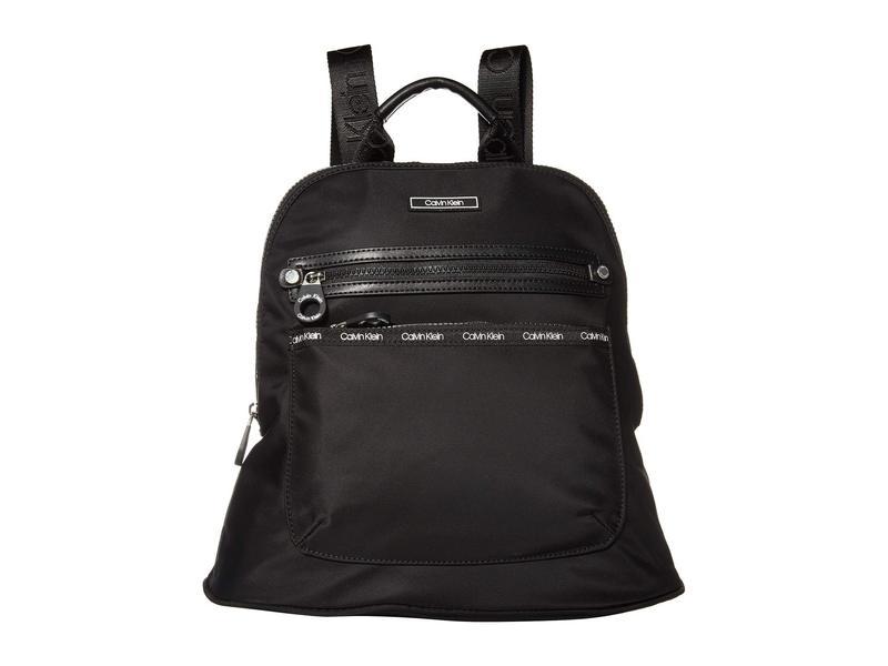 カルバンクライン レディース バックパック・リュックサック バッグ Georgina Nylon Backpack Black/Black