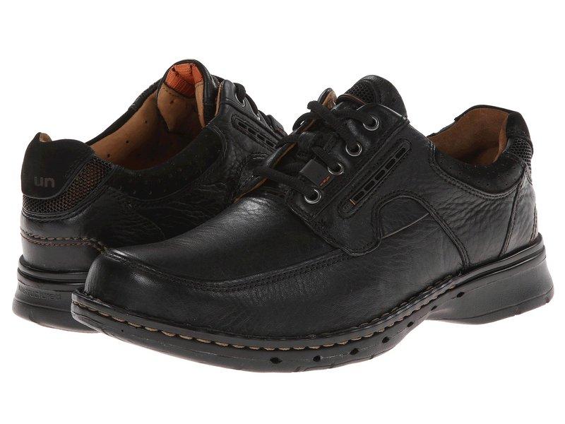 クラークス メンズ オックスフォード シューズ Un.bend Black Leather