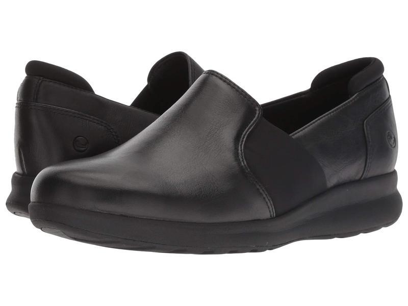 クラークス レディース スニーカー シューズ Un Adorn Step Black Leather