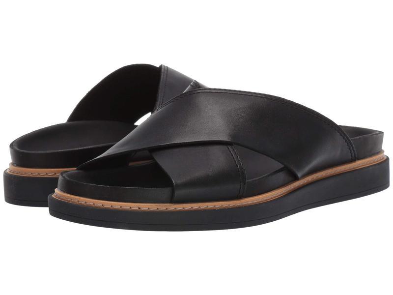 クラークス レディース サンダル シューズ Trace Drift Black Leather