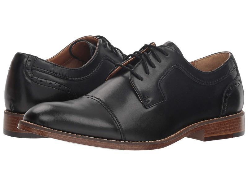ドッカーズ メンズ オックスフォード シューズ Rhodes Black Polished Man-Made