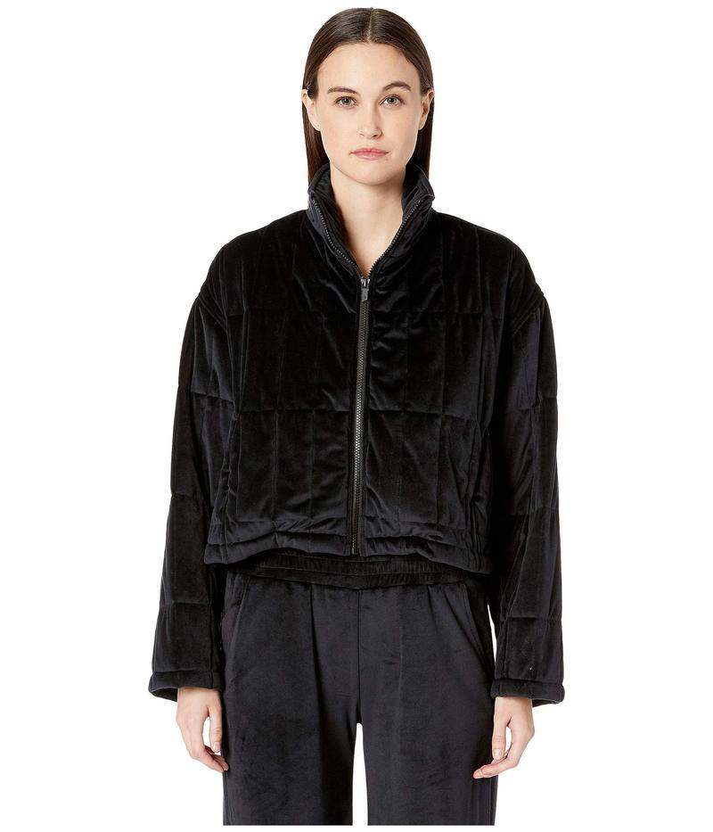 クシュニーエオクス レディース コート アウター Quilted Zip-Up Jacket with Cinched Back Detail Black