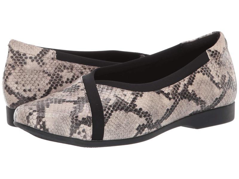クラークス レディース サンダル シューズ Un Darcey Ease Natural Snake Leather