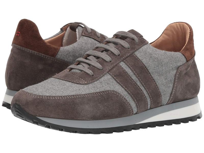 イレブンティ メンズ スニーカー シューズ Mixed Media Running Sneaker Grey/Brown