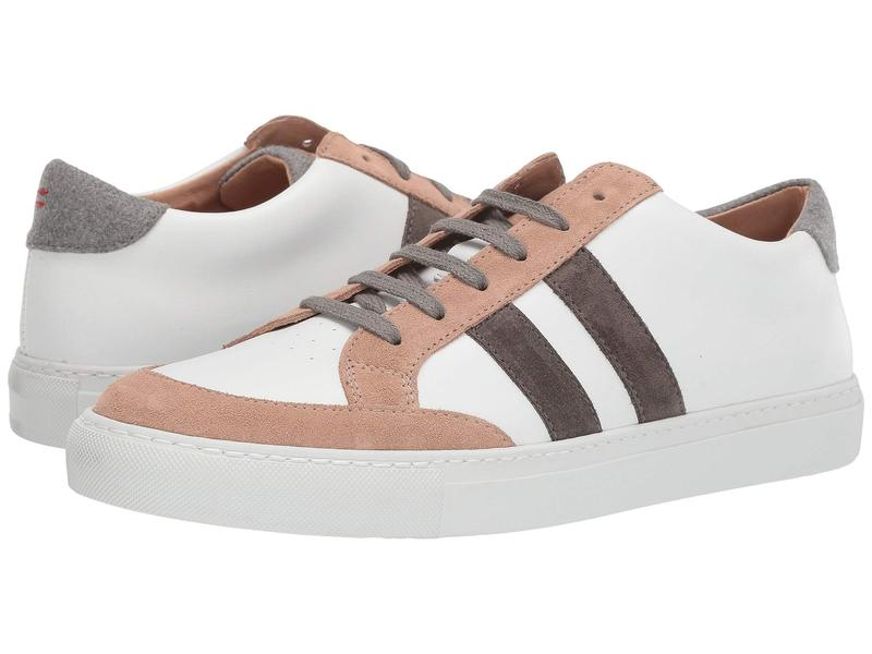 イレブンティ メンズ スニーカー シューズ Leather Sneaker with Suede Trim White/Sand
