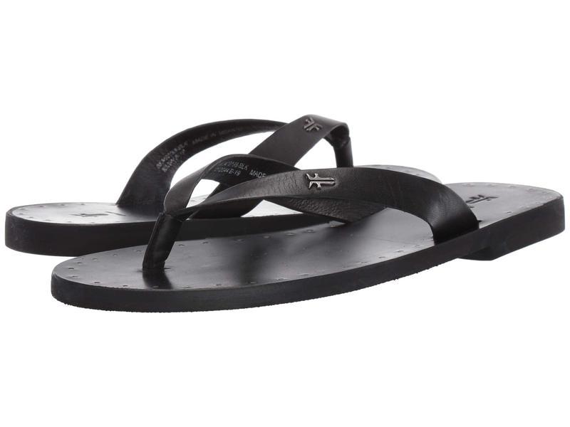 フライ レディース サンダル シューズ Azalea Logo Flip-Flop Black Antique Veg Tan