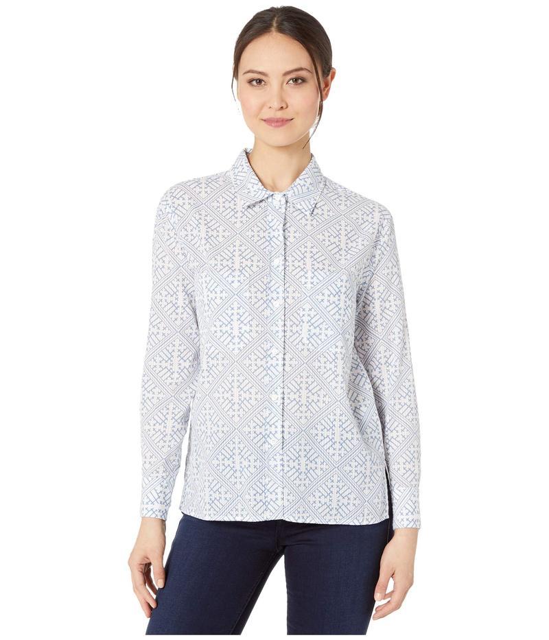 エリオットローレン レディース シャツ トップス Escher Relaxed Long Sleeve Shirt White/Chambray