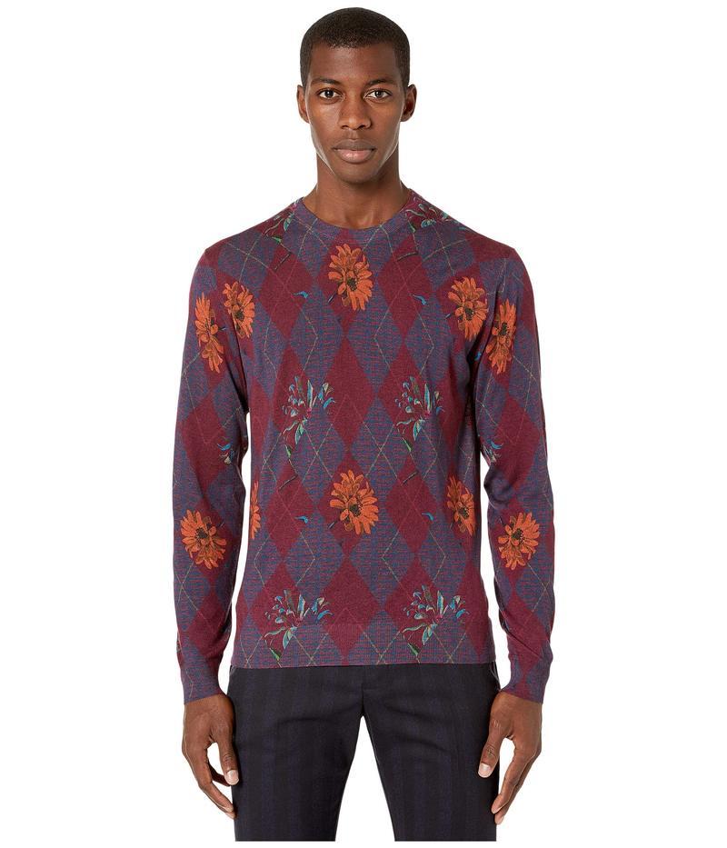 エトロ メンズ ニット・セーター アウター Printed Crew Neck Sweater Red