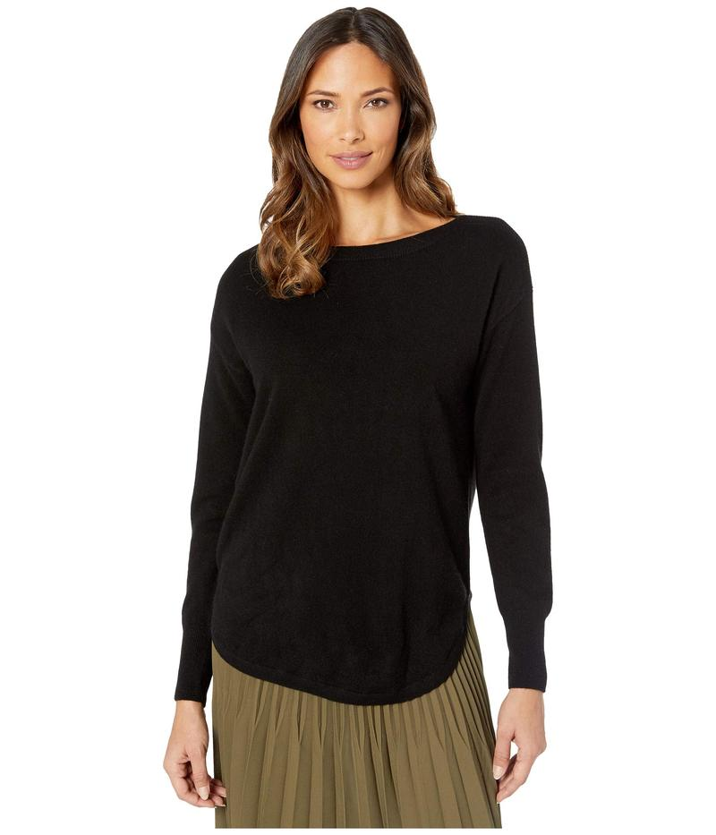 エリオットローレン レディース ニット・セーター アウター Cashmere Bateau Neck Sweater with Shirttail Hem Black