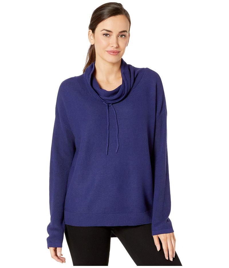 エリオットローレン レディース ニット・セーター アウター Relaxed Drawstring Funnel Neck Sweater Blueprint