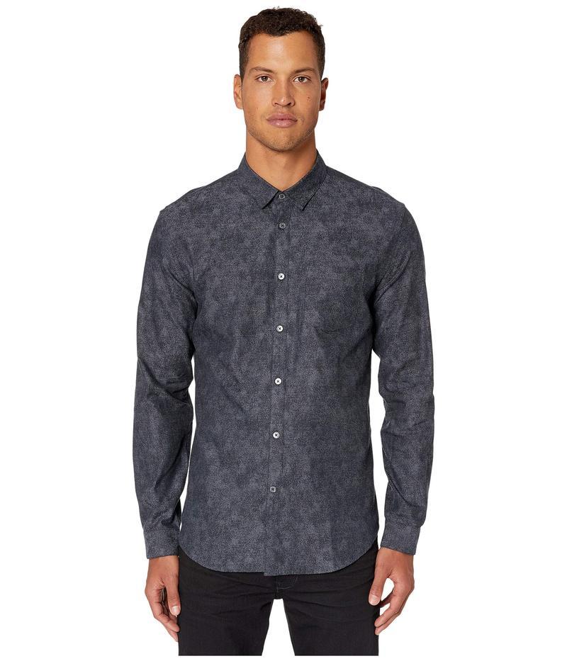 ジョンバルベイトス メンズ シャツ トップス Slim Fit Floral Print Button Down Shirt W662V3 Indigo