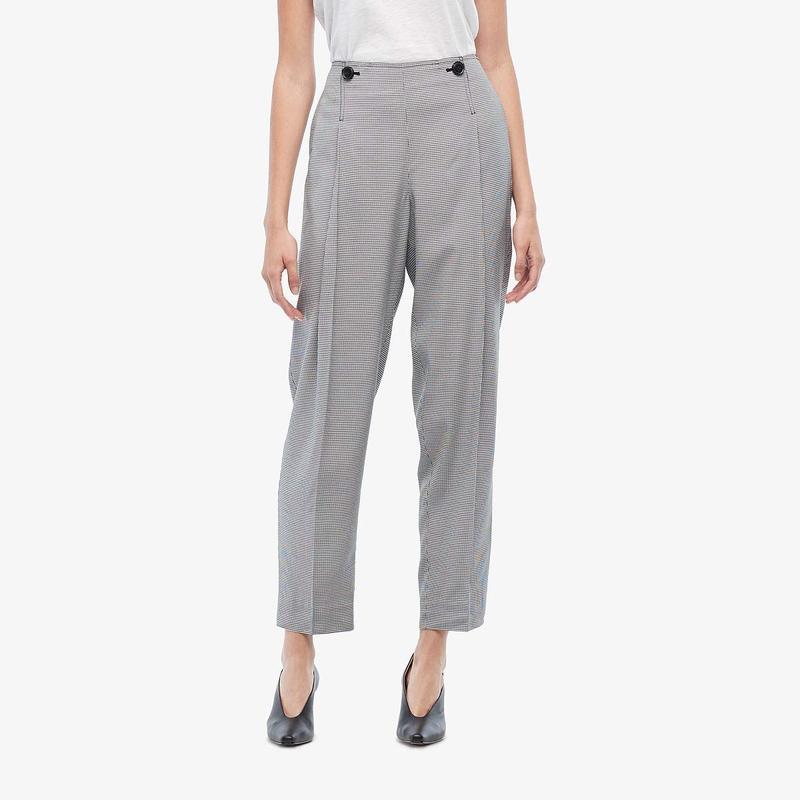 ジェイソンウー レディース カジュアルパンツ ボトムス Mini Check Soft Suit Pants Star White/Black