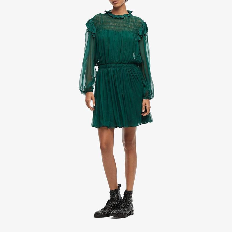 ジェイソンウー レディース ワンピース トップス Silk Crinkle Chiffon Dress Malachite