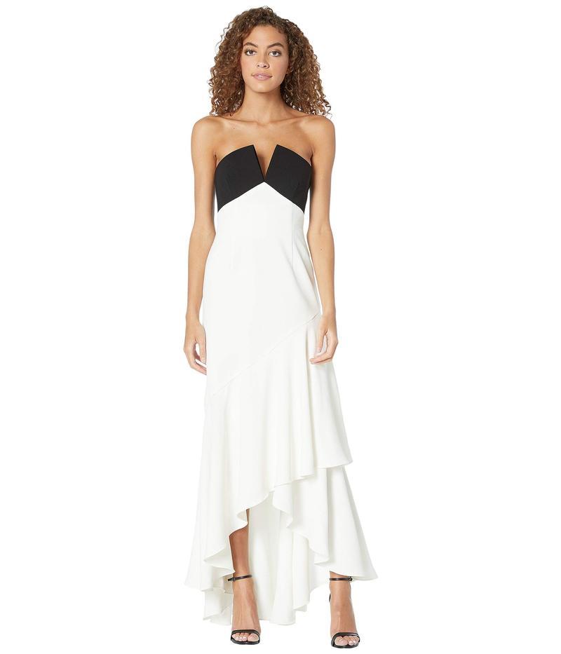 ジルスチュアート レディース ワンピース トップス Two-Tone Gown Black/White