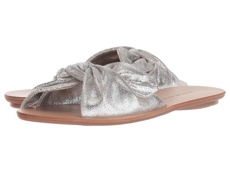 ロフラー ランダル レディース サンダル シューズ Phoebe Knotted Sandal Slide Silver Crackle Metallic Leather