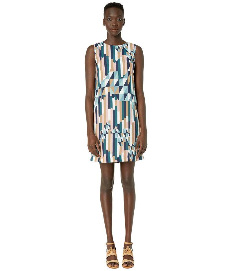 エム ミッソーニ レディース ワンピース トップス Shift Dress in Broken Stripe Print Blue