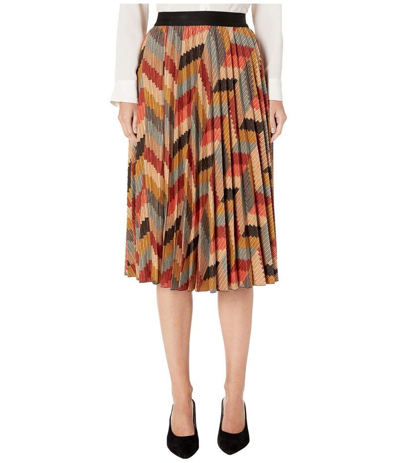 エム ミッソーニ レディース スカート ボトムス Printed Corduroy Pleated Skirt Harvest Gold