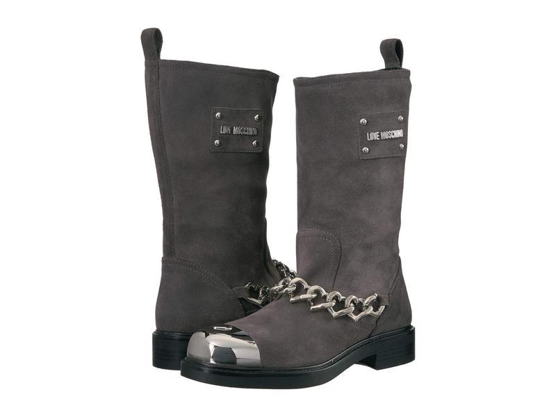 ラブ モスキーノ レディース ブーツ・レインブーツ シューズ Heart Cap Boots Grey