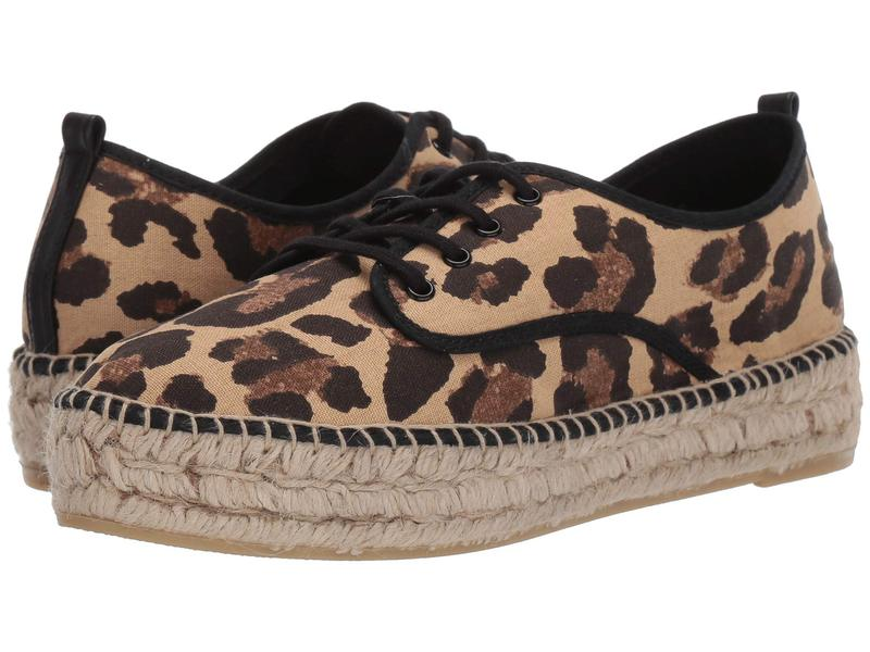 ロフラー ランダル レディース スニーカー シューズ Alfie Lace-Up Platform Espadrille Sneaker Leopard