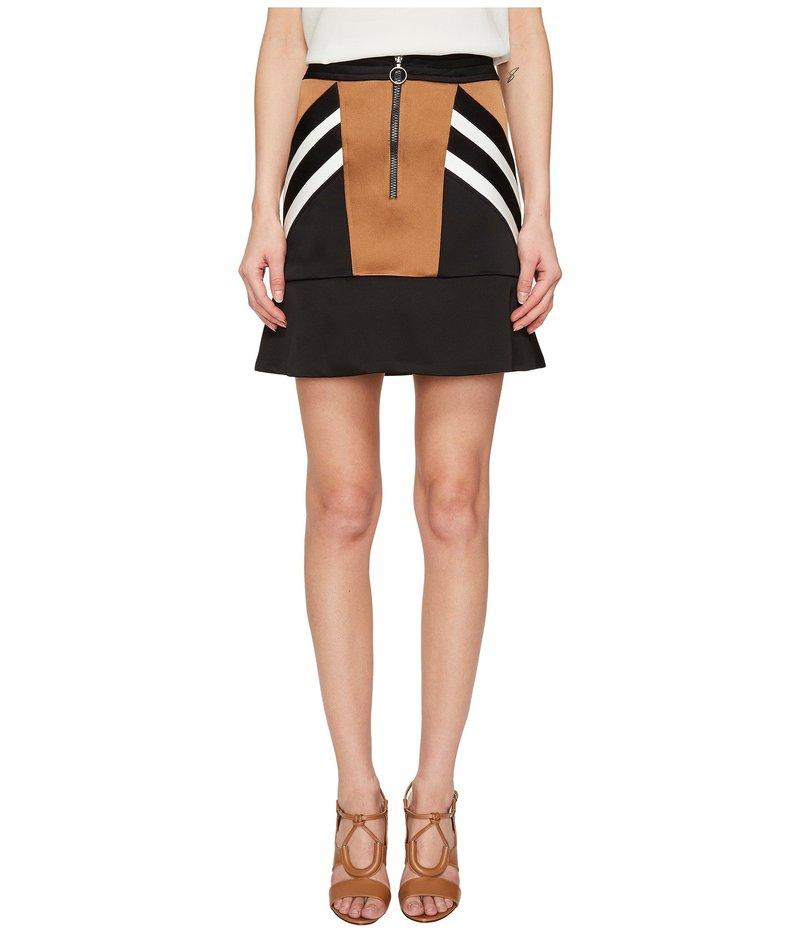 ニールバレット レディース スカート ボトムス Retro Modernist III Rayon Stripes + Cady Stripes Skirt Brown