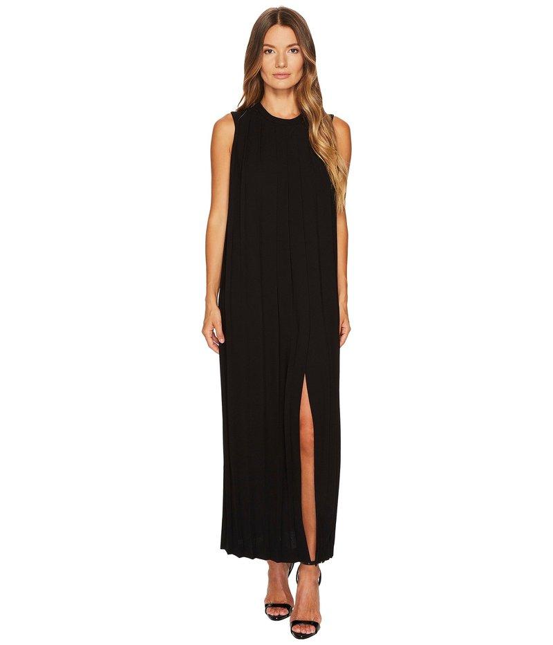 ニールバレット レディース ワンピース トップス Sable' + Fine Gabardine Sleeveless Pleated Dress Black