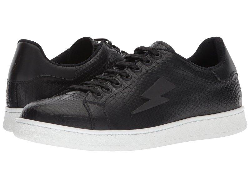 ニールバレット メンズ スニーカー シューズ Tonal Thunderbolt Tennis Sneaker Black/White