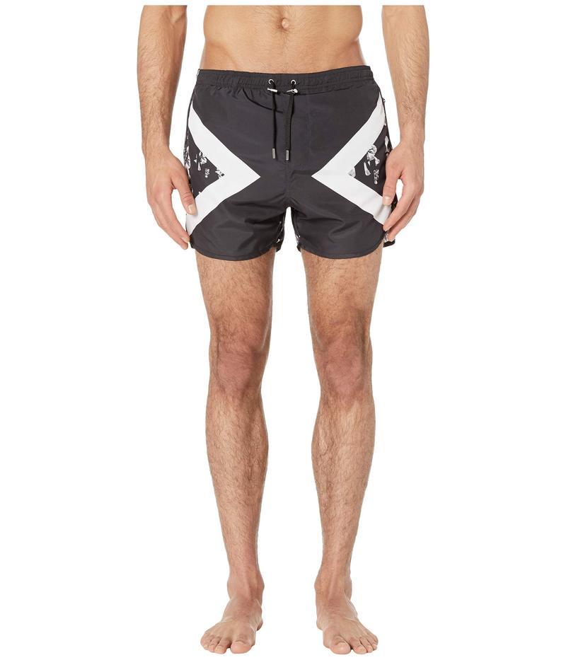 ニールバレット メンズ ハーフパンツ・ショーツ 水着 Modernist Sliding Anemone Swimsuit Black/White