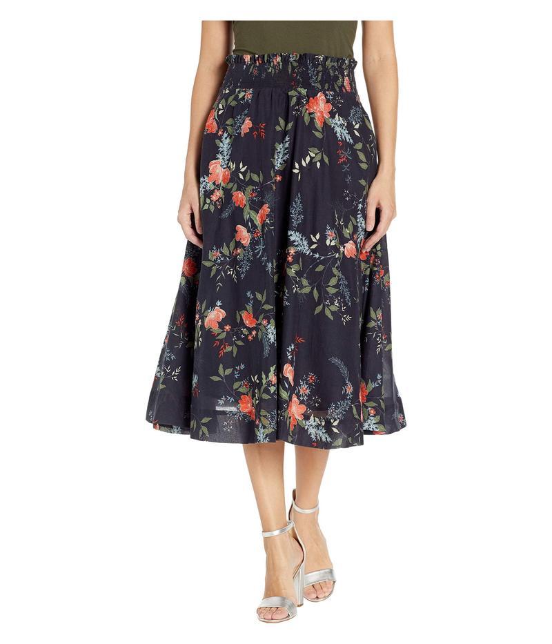 マイケルスターズ レディース スカート ボトムス Kinsley Floral Leah Smocked Waist Midi Skirt Admiral Multi