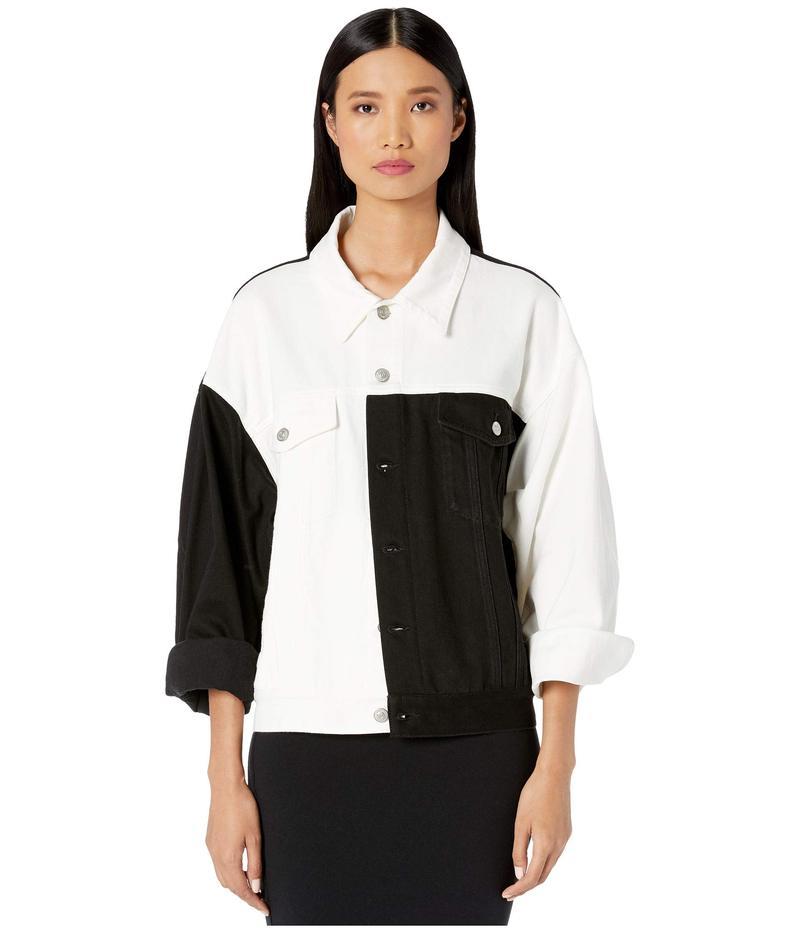 マルタンマルジェラ レディース コート アウター Oversized Denim Jacket White/Black