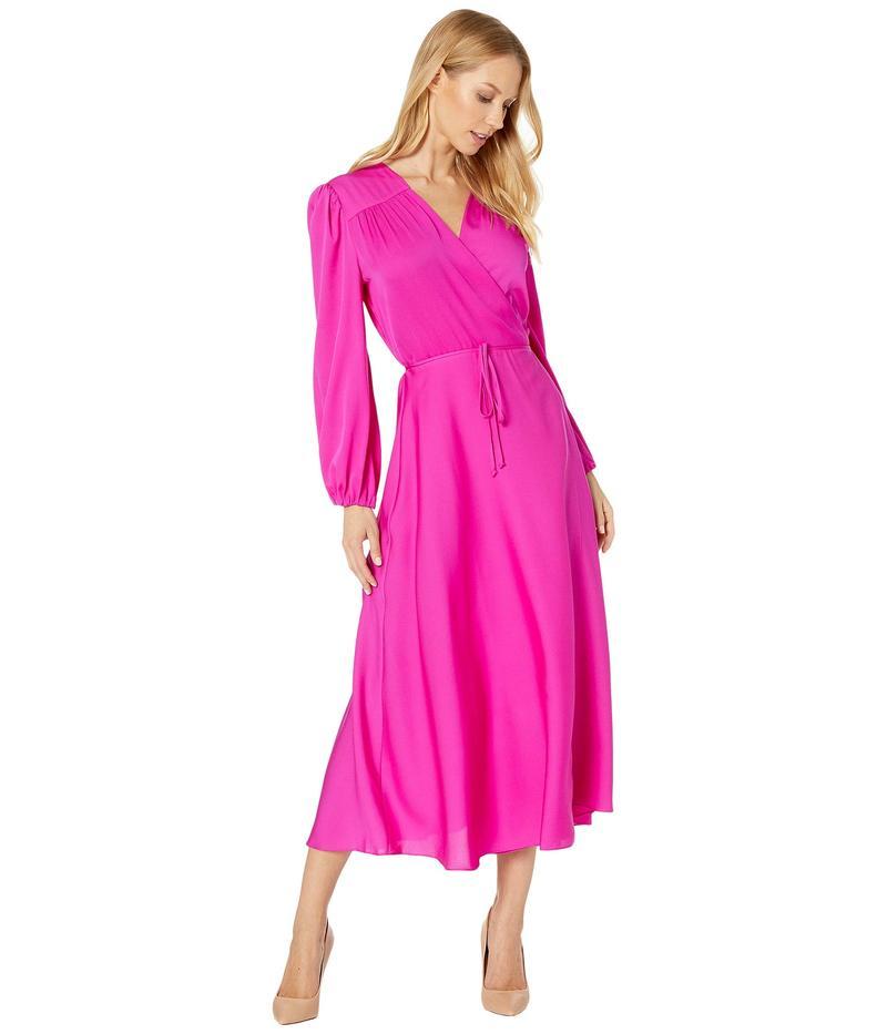 ミリー レディース ワンピース トップス Gina Long Sleeve Midi Dress Magenta