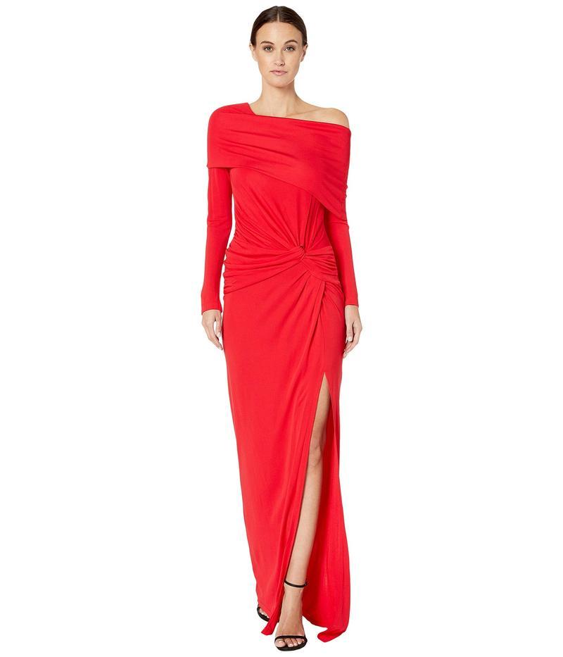 プラバルグラング レディース ワンピース トップス Off Shoulder Twist Waist Gown Scarlet