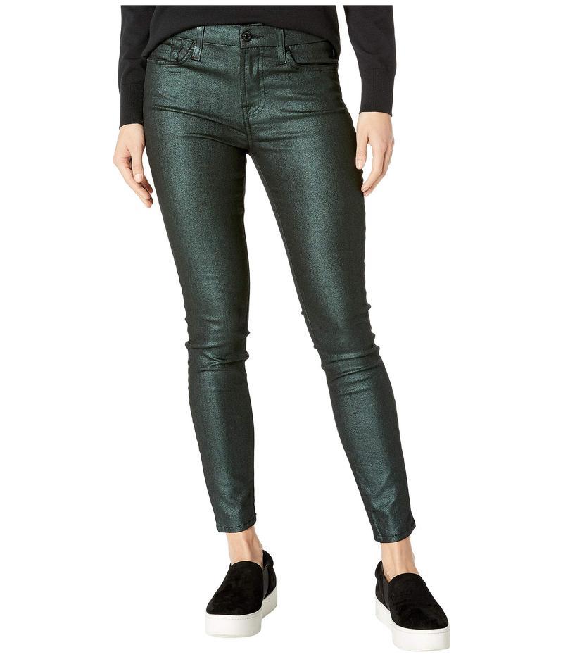 送料無料 サイズ交換無料 セブンフォーオールマンカインド レディース ボトムス デニムパンツ Emerald セブンフォーオールマンカインド レディース デニムパンツ ボトムス Metallic Ankle Skinny in Emerald Emerald