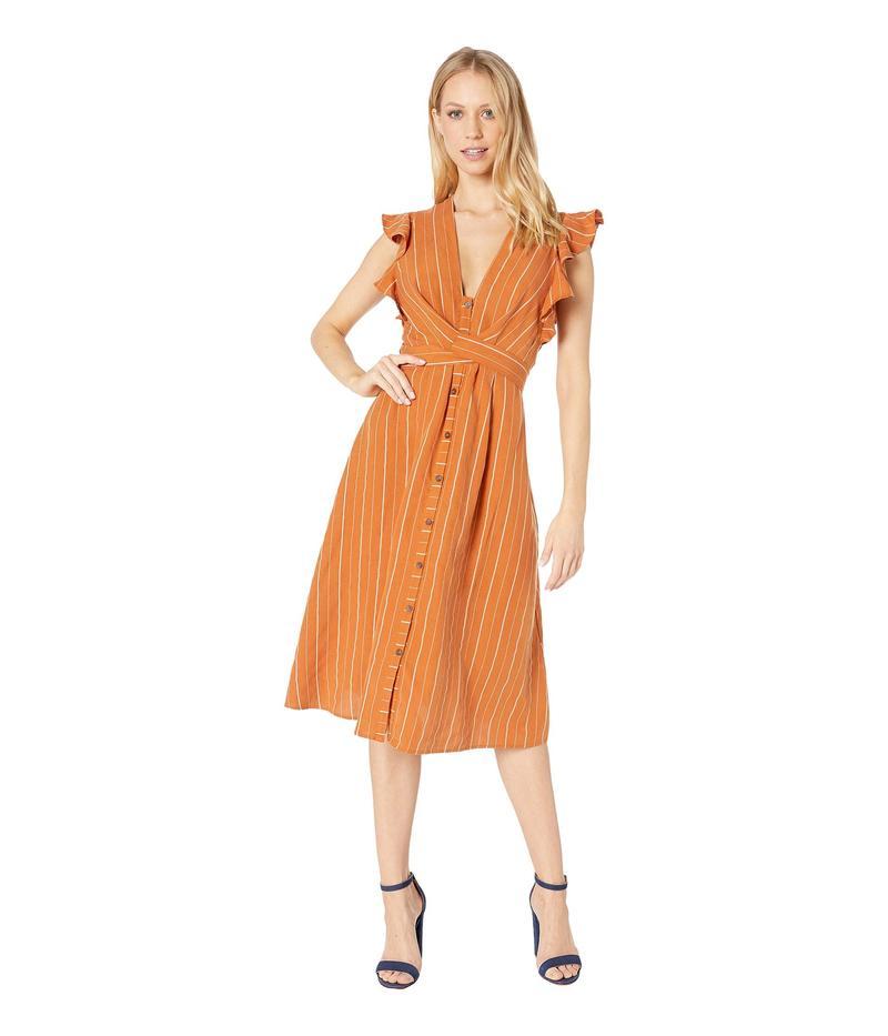 アストール レディース ワンピース トップス Saturate Dress Papaya Stripe