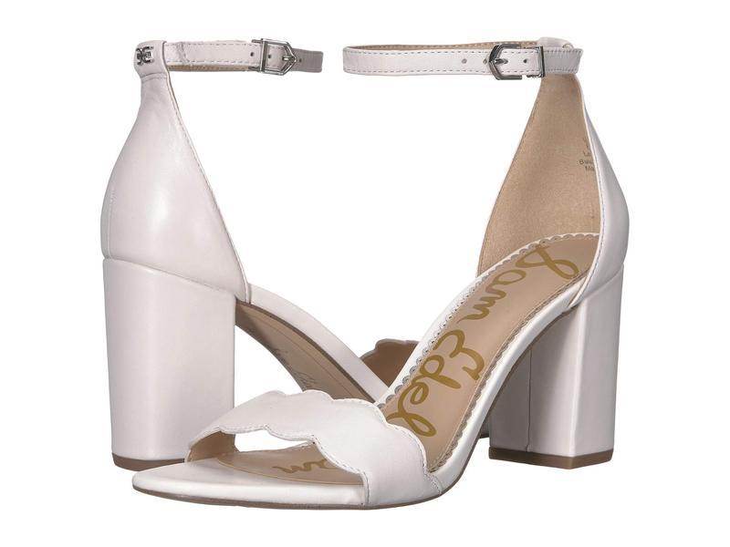 サムエデルマン レディース ヒール シューズ Odila Ankle Strap Sandal Heel Bright White Dress Nappa Leather