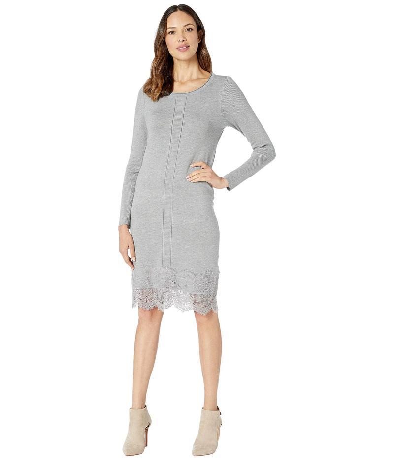 トリバル レディース ワンピース トップス Long Sleeve Mock Neck Sweater Dress Grey Mix