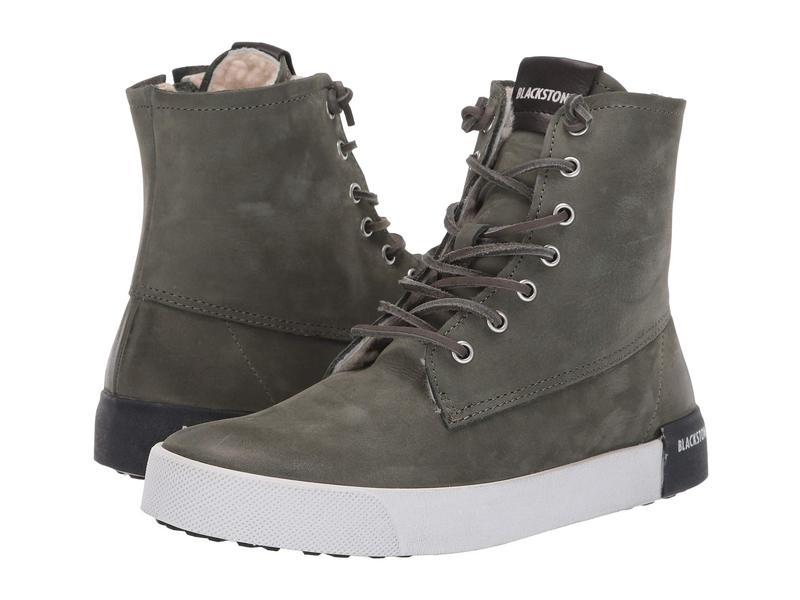 ブラックストーン レディース スニーカー シューズ High-Top Sneaker - QL41 Dark Green