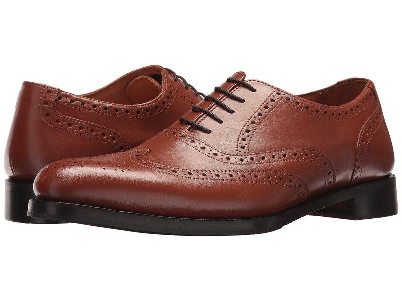 カルロスサンタナ メンズ オックスフォード シューズ Mission Wingtip Oxford Tan Full Grain Calfskin Leather