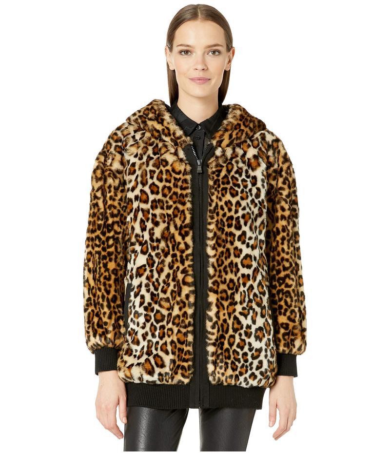 ブティックモスキーノ レディース コート アウター Faux Fur Leopard Jacket Beige Multi