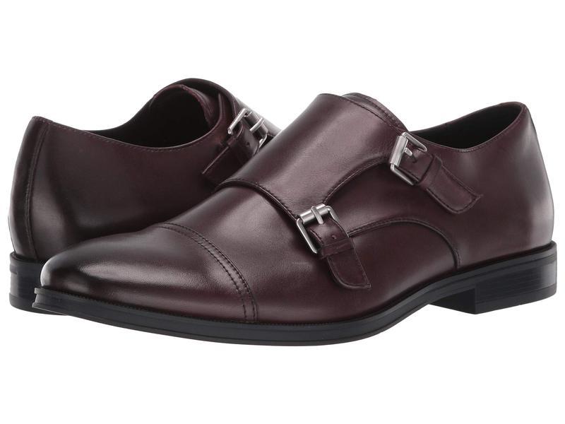 カルバンクライン メンズ オックスフォード シューズ Winthrope Mahogany Crust Leather