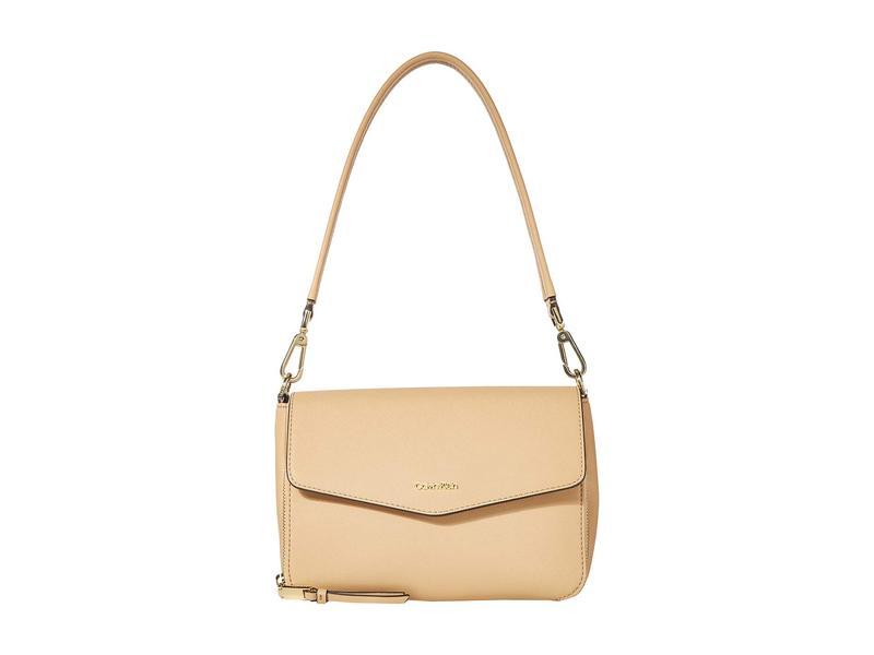 カルバンクライン レディース ハンドバッグ バッグ Ava Saffiano Shoulder Bag Rye
