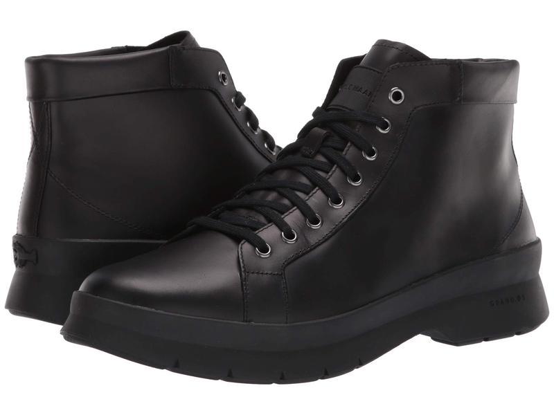 コールハーン メンズ ブーツ・レインブーツ シューズ Pinch Utility Chukka Boot Waterproof Black/Black