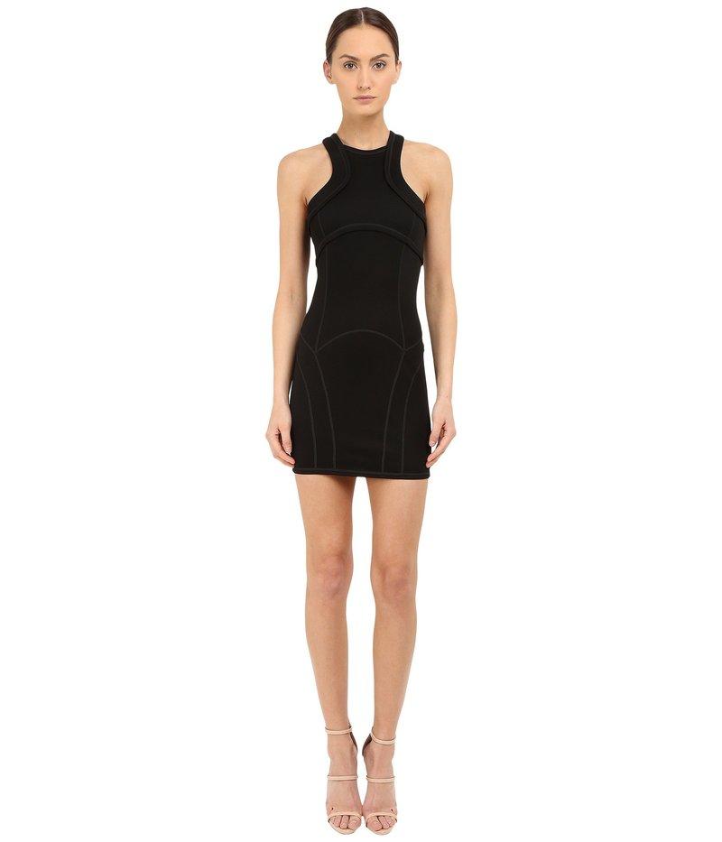 ディースクエアード レディース ワンピース トップス Compact Viscose Jersey Dress Black
