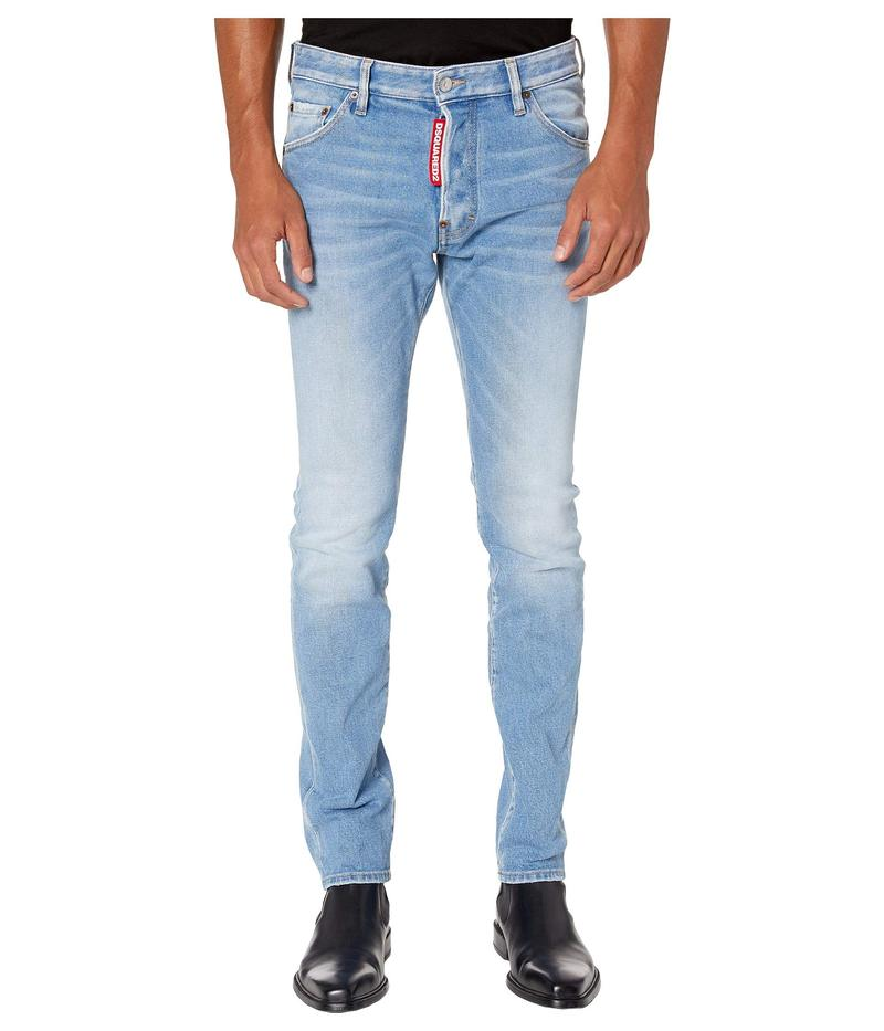 ディースクエアード メンズ デニムパンツ ボトムス Light Weird Super Fade Wash Cool Guy Jeans Blue