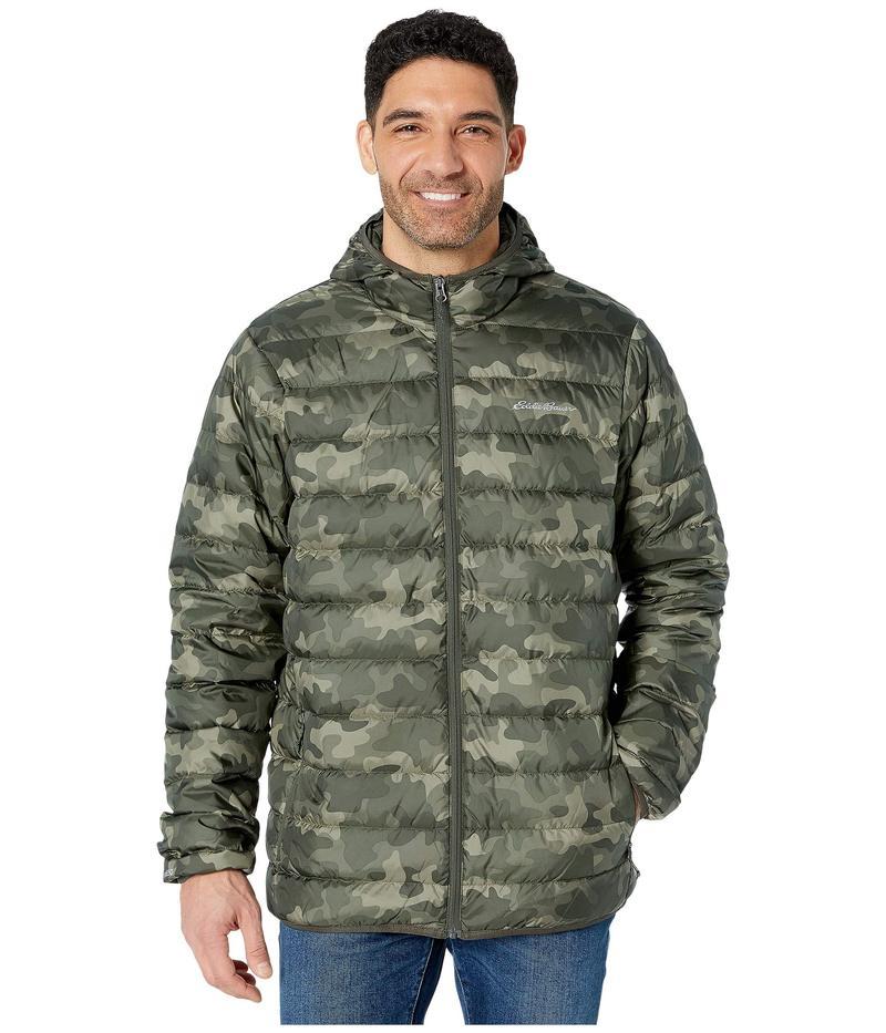 エディー バウアー メンズ コート アウター Cirruslite Down Hooded Jacket - Tall Camo
