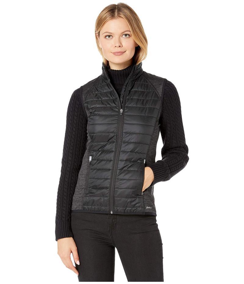エディー バウアー レディース コート アウター Ignitelite Hybrid Vest Black