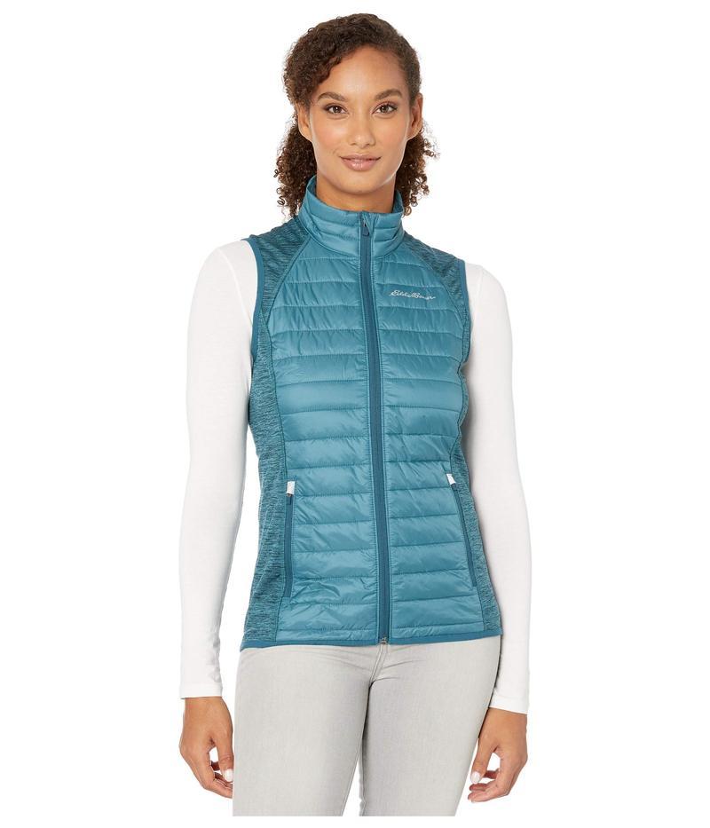エディー バウアー レディース コート アウター Ignitelite Hybrid Vest Light Nordic Blue